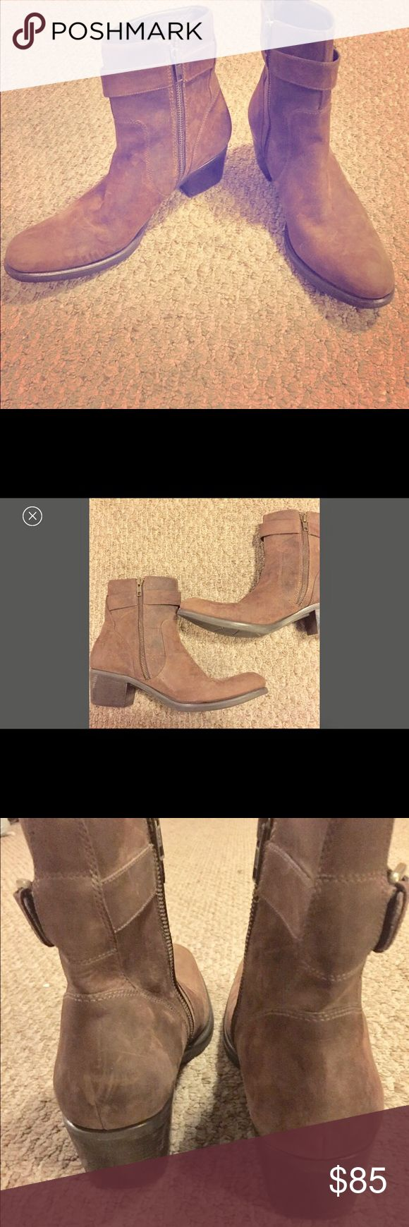 Cole Haan women's Suede Boots waterproof Cole Haan Suede waterproof buckle booty sz 10 Cole Haan Shoes Ankle Boots & Booties