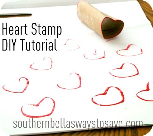 Heart Stamp DIY Craft Tutorial DIY And Crafts Id Like