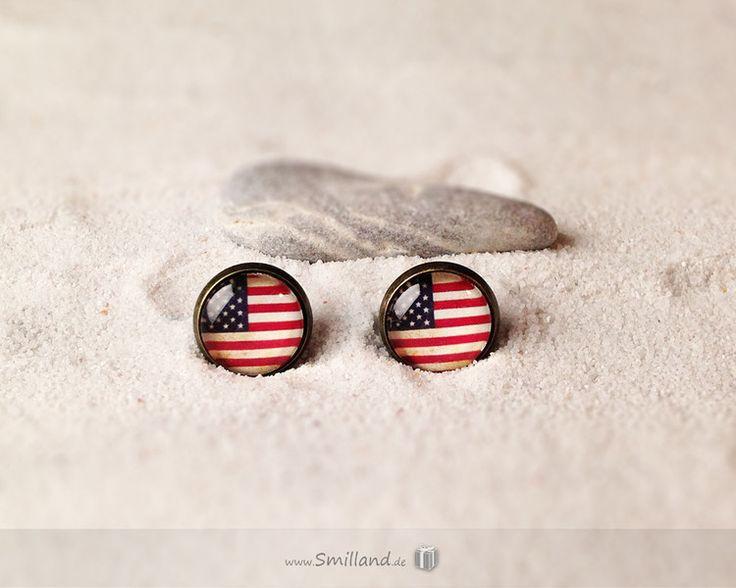 Ohrstecker USA Flagge von Smilland auf DaWanda.com