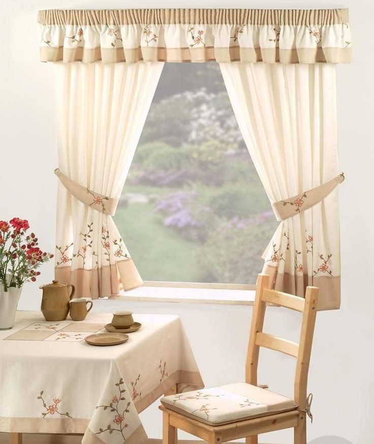 9 best cortinas para cocina images on pinterest curtain for Cortinas para cocina