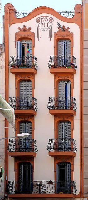 1911 house, still in great shape.Barcelona -Catalonia Elkano  by Arnim Schulz, via Flickr