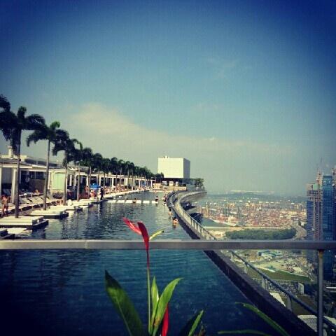 At the highest floor Marina Bay Sand Hotel, Singapore