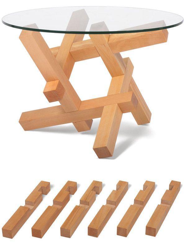 DIY Woodworking Ideas Flat pack coffee tables by Praktrik