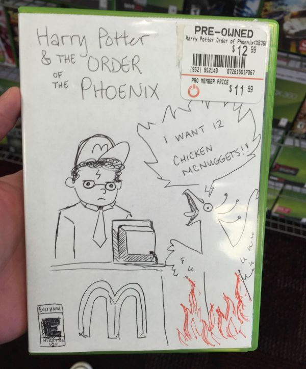 11 Funny Hand Drawn Video Game Cover Art Found At GameStop