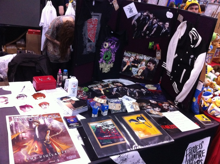 The Fearless Vampire Killers table. With that tall guy off've comics, whoring his wares. ;-)