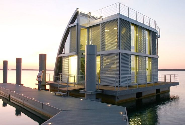 Floating Home in Lusatian Lake District, Germany