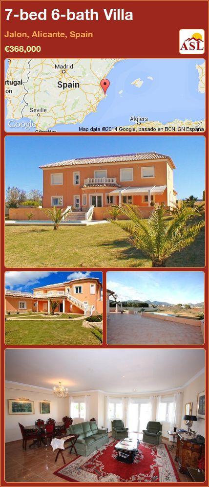 7-bed 6-bath Villa in Jalon, Alicante, Spain ►€368,000 #PropertyForSaleInSpain