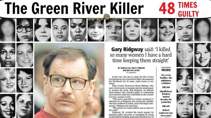 Gary Leon Ridgway (born February 18, 1949), also known as the Green River Killer, is an American serial killer. He was initially convicted of 48 separate murders and is presumed to be responsible for more than 90. As part of his plea bargain, an additional conviction was added, bringing the total number of convictions to 49,