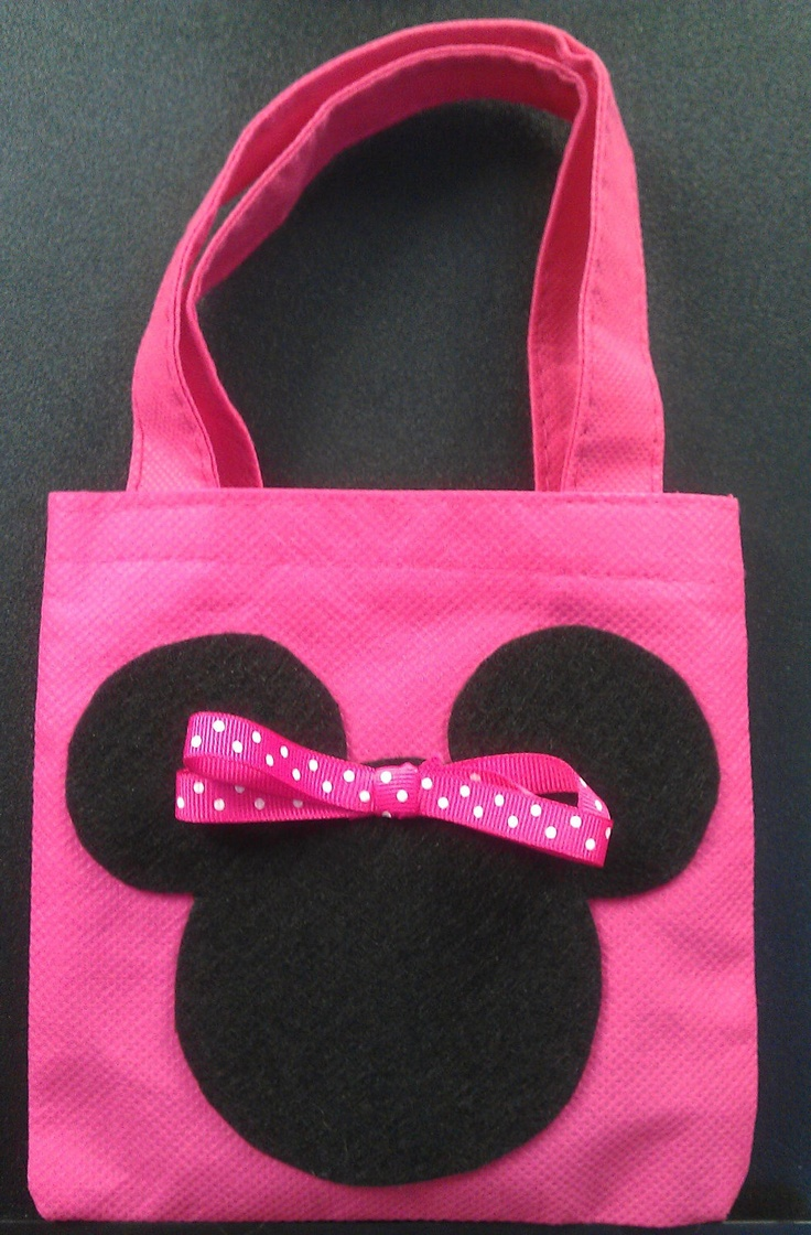Set of Four (4) Minnie's Favor Bags - Birthday Party Favors. $15.00, via Etsy.