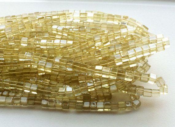 Lemon Quartz Beads Lemon Quartz Plain Box Beads by gemsforjewels