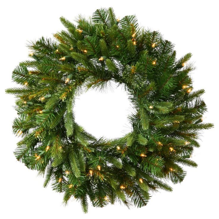 Cashmere Wreath Pre-Lit LED Wreath with Timer Multi - A118632LED