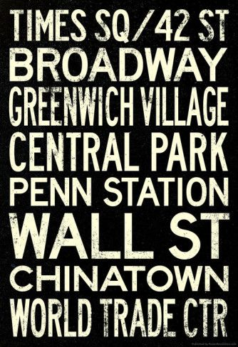vintage travel posters of new york | New York City Subway Style Vintage RetroMetro Travel Poster Prints at ... #GrandCentralNYC