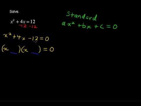 best algebra help videos images algebra help  how to solve quadratic equations by factoring