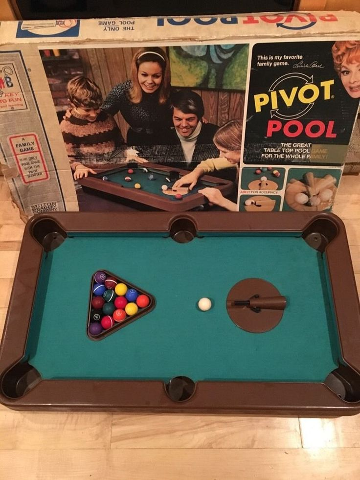 Vintage Milton Bradley PIVOT POOL Table Top GAME ...