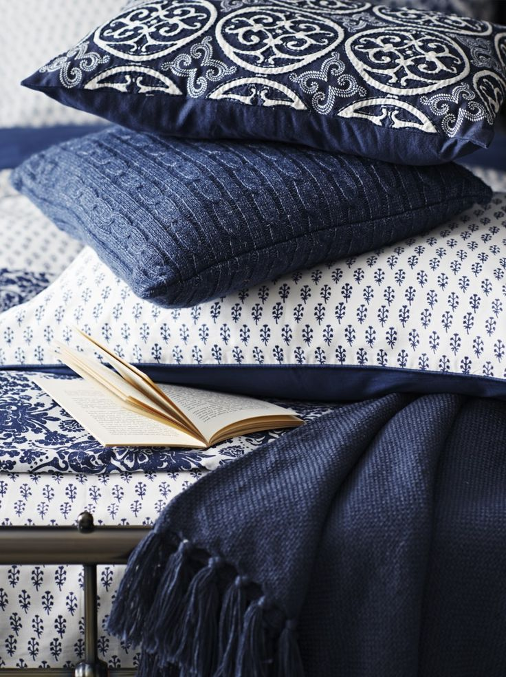 Indigo Bedroom Textiles / madaboutthehouse