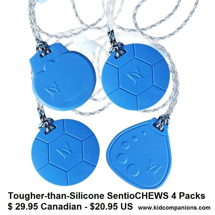 Aggressive chewer? Child ruins his chewy in no time? GET Tougher-than-Silicone SentioCHEWS  >>>Buy 4 $AVE More<<< Canada: $29.99 ......USA: $20.96 Price may vary a bit depending on value of Canadian Dollar. ◘Designed, manufactured, assembled in Canada of FDA approved materials sourced in US & Canada, CE marked & sold worldwide. ♥SAFE- BPA, phalate, lead and latex free  http://kidcompanions.com/product/sentiochews-4-pack/# …