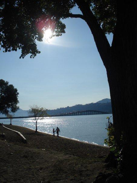 You can walk along the lakeshore board walk anytime #Kelowna