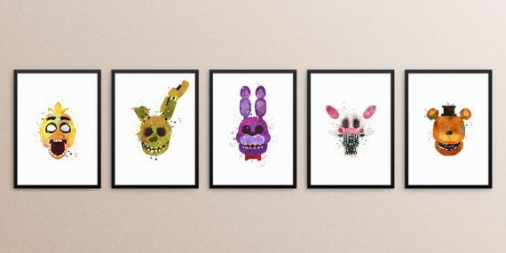 Five nights at freddys bundle, Five nights at #art #print #digital @EtsyMktgTool http://etsy.me/2A1AdSZ #fivenightsfreddys #fnaf #chica