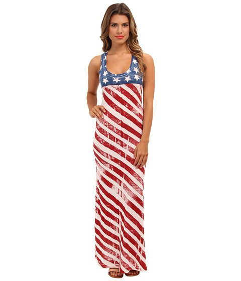 Alternative Apparel Monroe Maxi Dress Stars/Stripes - Zappos.com Free Shipping BOTH Ways