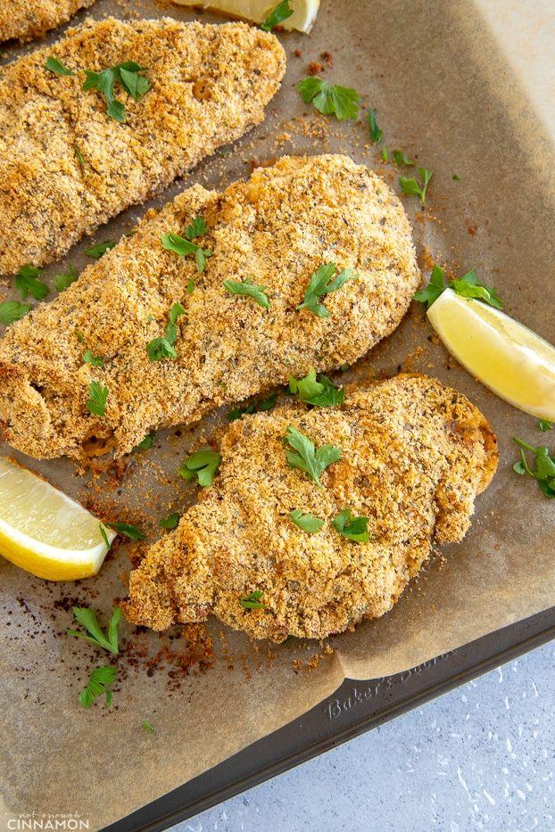 Healthy Chicken Schnitzel Recipe Not Enough Cinnamon Recipe Chicken Schnitzel Healthy Paleo Desserts Recipes