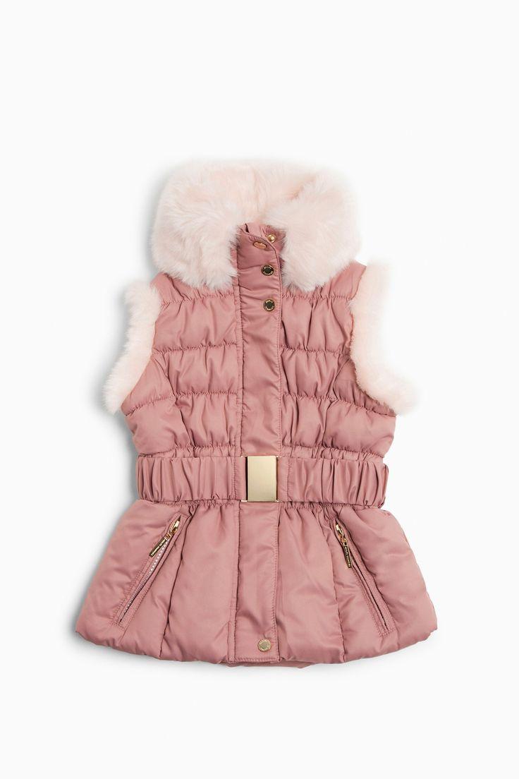 Nylon And Faux Fur Quilted Vest - AD Kids | Adolfo Dominguez shop online