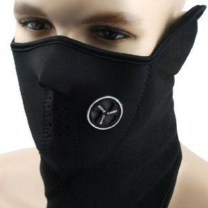 Neoprene Black Thermal Fleece Half Face Mask Facemask Snowboard Snowmobile Snow Ski Sled Face Mask Facemask Balaclava Scarf Extreme Sport X-Sport Skate Skating Skids Skateboarding by Astra Depot. $3.39. This listing is for Brand new Black Neoprene Motorcycle Biker Snowboard Half Face Ski Mask Specifications: • Package includes: One piece of Black Neoprene Motorcycle Biker Snowboard Half Face Ski Mask • Size(approx.): 48.5 cm x 26.7 cm (19.1 inch x 10.5 inch) • Colo...
