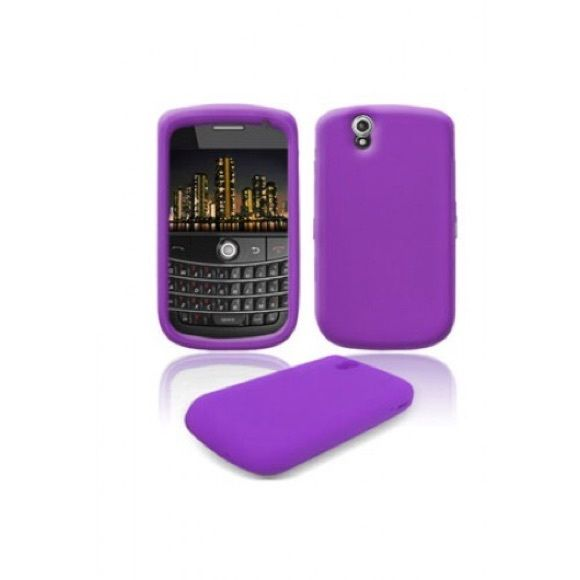 BlackBerry 9630/9650 Silicone Skin Case - Purple Soft, like new condition. Use as a stocking stuffer for an iPhone user in need.  (Color more accurate in picture from internet) Accessories Phone Cases