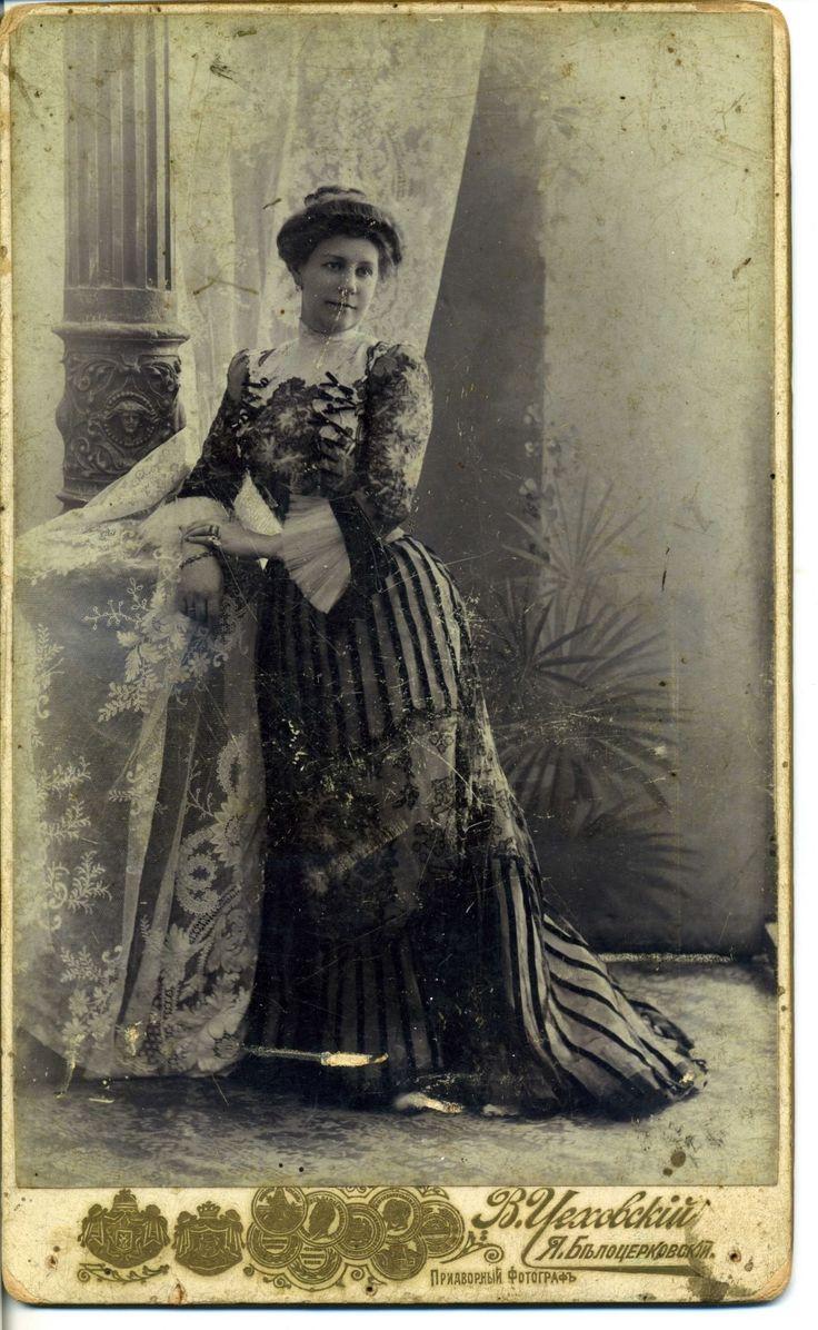 Большое старинное фото шикарной женщины. ОДЕССА. фот.ЦЕХОВСКИЙ. БЕЛОЦЕРКОВСКИЙ.