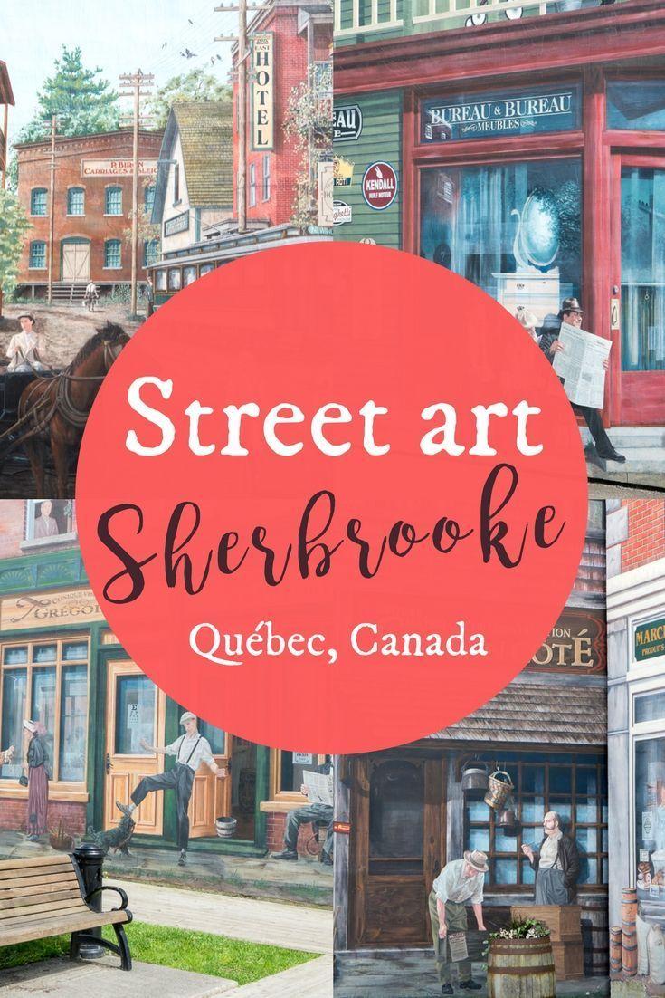 Murales De Sherbrooke Le Street Art Prend Vie Street Art Art De Rue Parement Mural