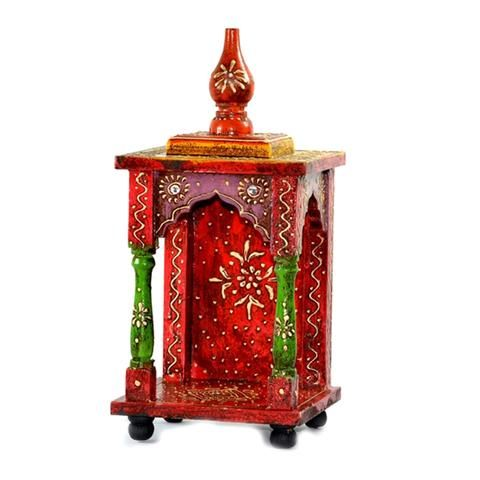 Small Handpainted Embossed Mandir  Or Home Puja - FOLKBRIDGE.COM | Buy Gifts. Indian Handicrafts. Home Decorations.