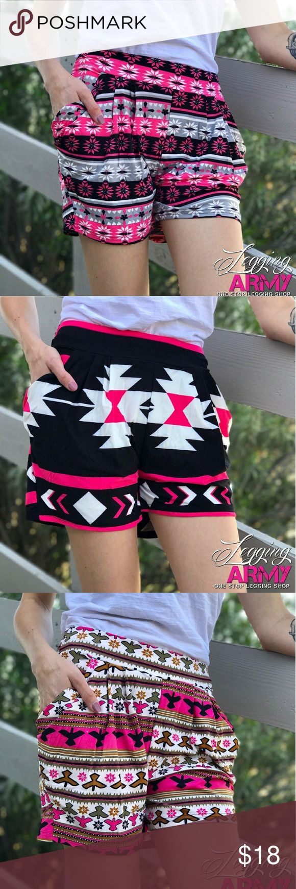 Cute shorts * New Shorts Added today *  These shorts fit just like our leggings!  Standard U.S Sizing:  One Size- (3-14)  Oh Guess what! Active wear, Active Camo, Solid colors, and some other goodies going up this week :) Www.LeggingDiva.com Legging Army  Shorts