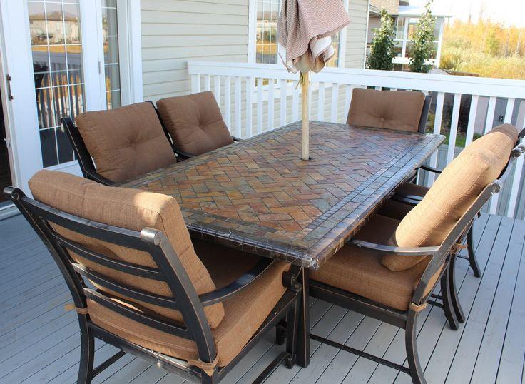The Best Costco Patio Furniture Ideas On Pinterest Small - Dining sets at costco dining sets costco brown and black color