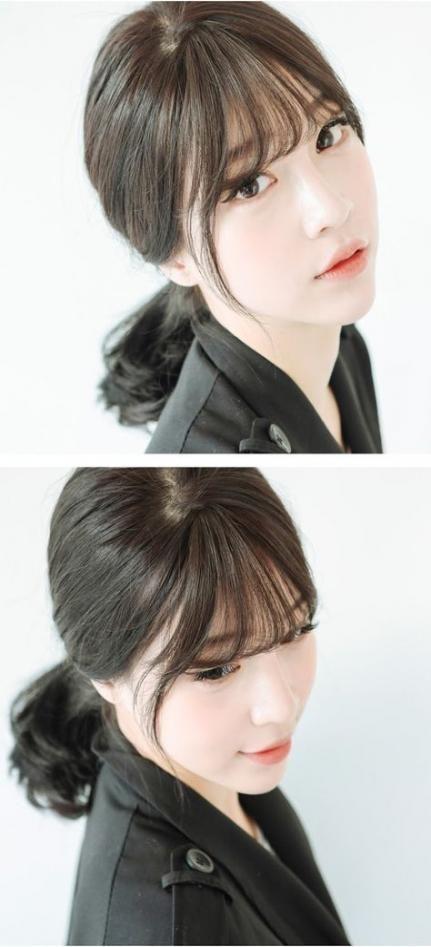 Haircut Medium Bangs Korean 20+ Ideas