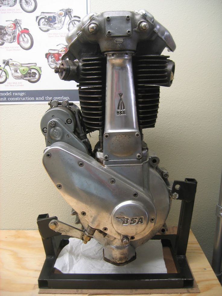 Parts vintage bombardier engine