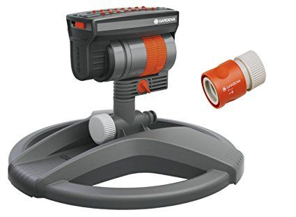 $53 - GARDENA ZoomMaxx Oscillating Sprinkler on Weighted Sled Base
