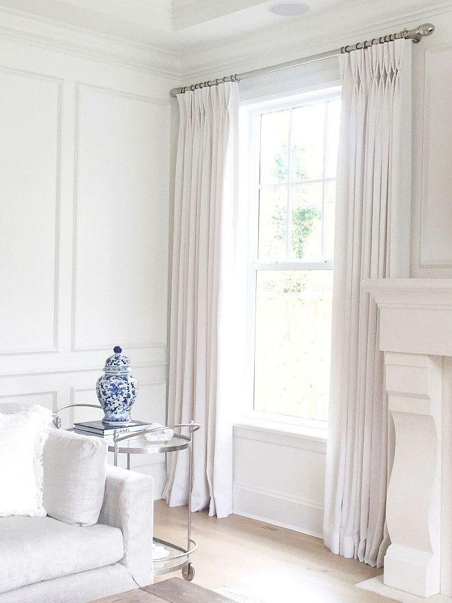 Living Room Drapery Is Q Design  Linen  Winter White.