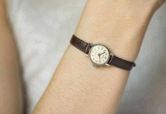 Very small women's watch Dawn ladies micro watch by SovietEra
