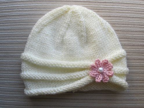 Rolled Brim Hat with Flower for a girl