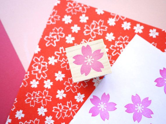 Kersenbloesem stempel, bruiloft uitnodigingen, Wedding boom, aangepaste stempel, Japanse bruiloft, Kawaii briefpapier, inpakpapier, Sakura stempel
