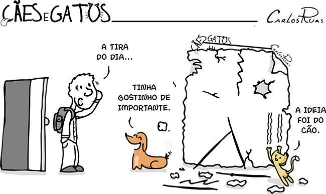 """Cães e Gatos – Hoje não vai ter tirinha do """"Cães e Gatos"""""""