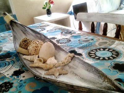 *Xô depressão*: artesanato- folha de coqueiro se transforma em centro de mesa
