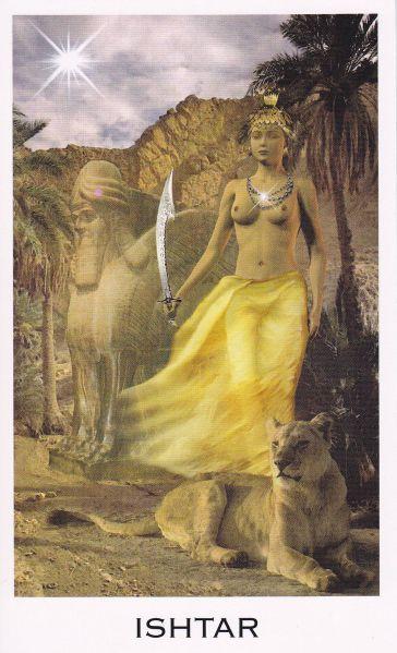 Ishtar in Oracle of the Goddess by Anna Franklin & Paul Mason