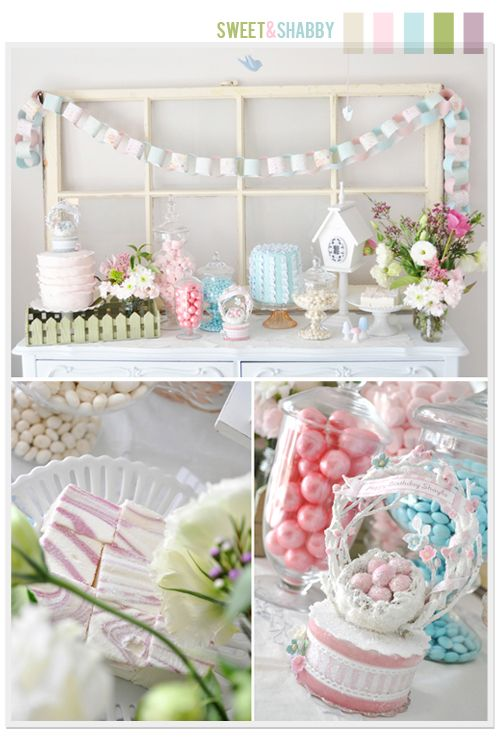 so pretty for a bridal shower, bridesmaids luncheon, baby shower or girl's bday