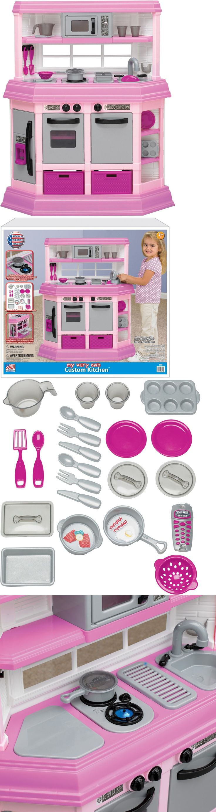 Kitchens 158746: Kitchen Playset Kids Pretend Play Cooking 22 Piece Girls Pink Toy Toddler Game -> BUY IT NOW ONLY: $76.94 on eBay!