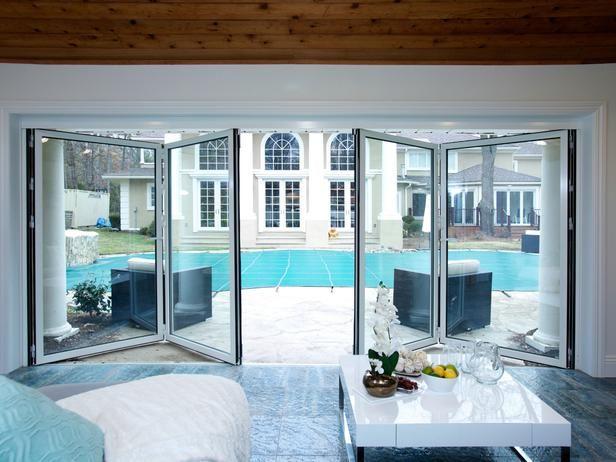 New Pool House Doors from Rev Run's Renovation