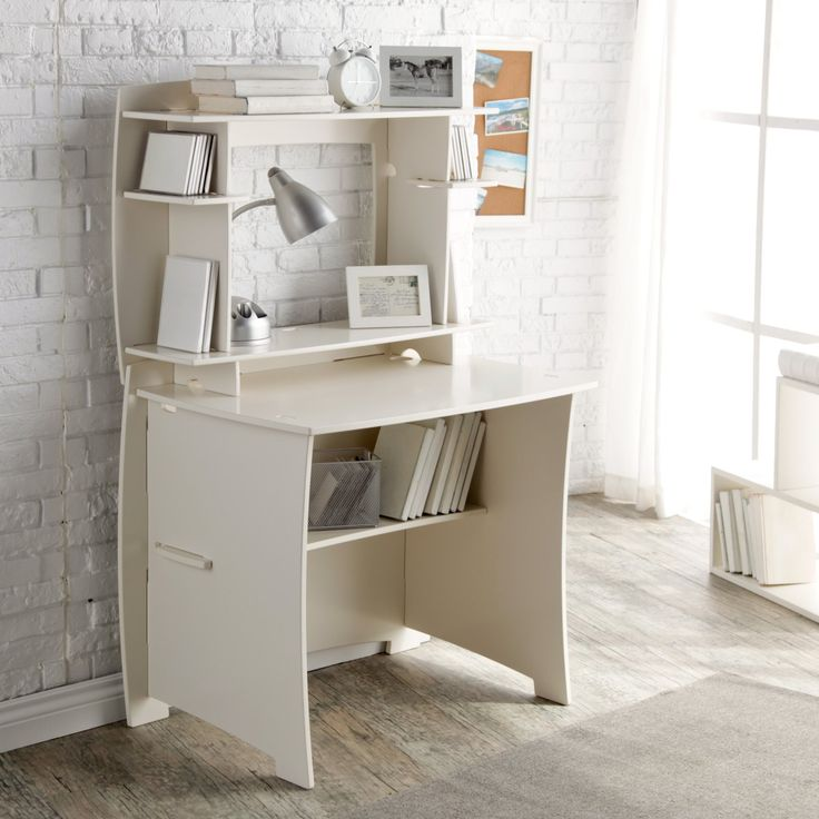 Legare 36 in. White Writing Desk with Hutch - MPWM-105.