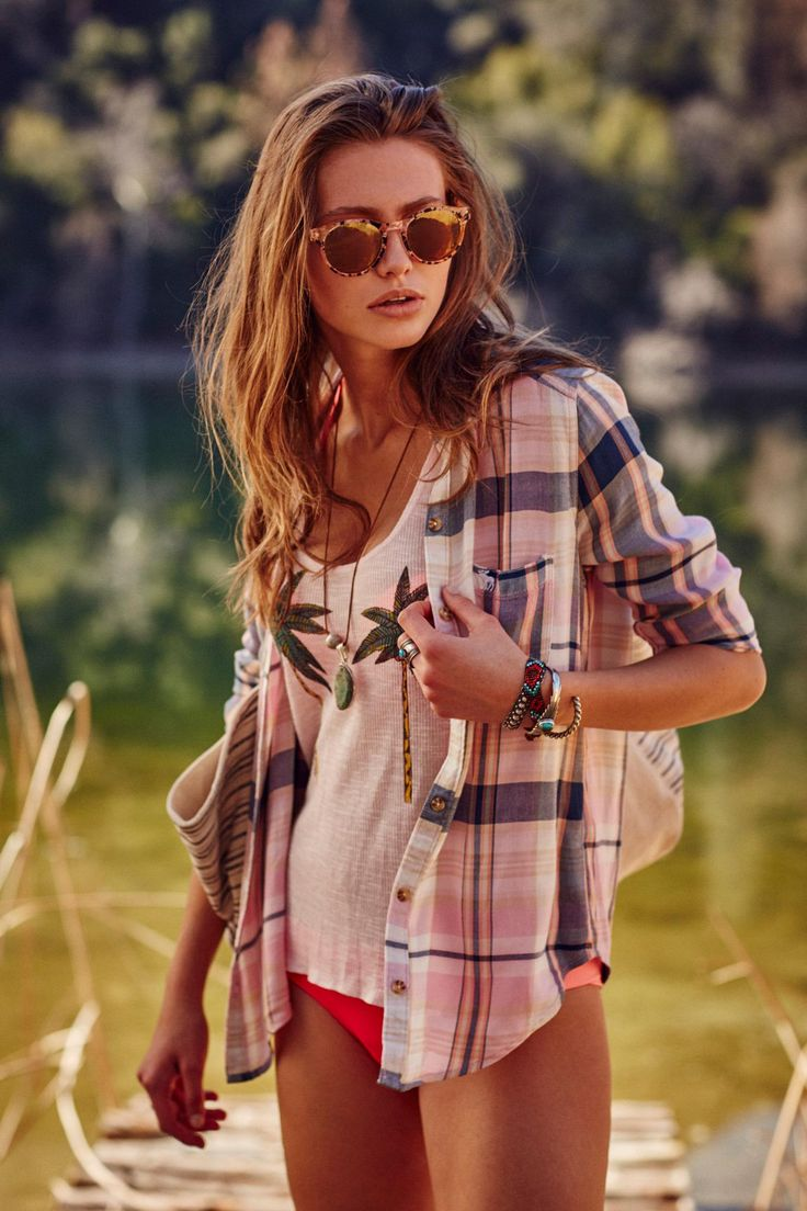 Summer layering made easy thanks to graphics, lightweight plaids, and tons of must-have accessories.