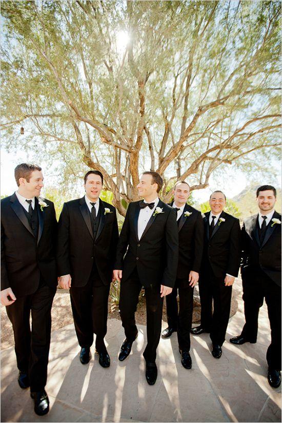 dark suits for the groom and his men #wedding #groomsmen http://elysehall.com/