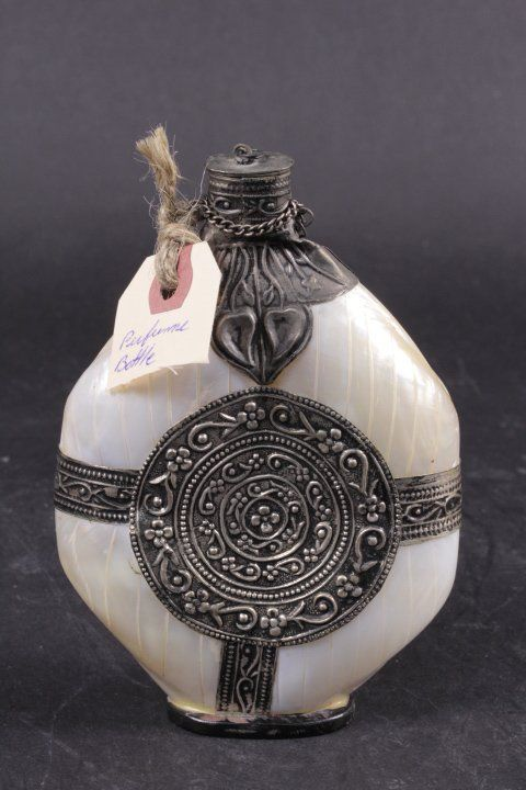 Shell Perfume Bottle With Old Silver Decoration : Lot 5