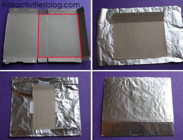 Aluminum Foil Craft {Colorful and Shiny Tin Foil Collage}                                                                                                                                                                                 More